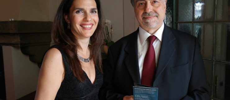 Claudia Oddo mit Konsul Dr. Alfedo Casciello - Villa Blavius